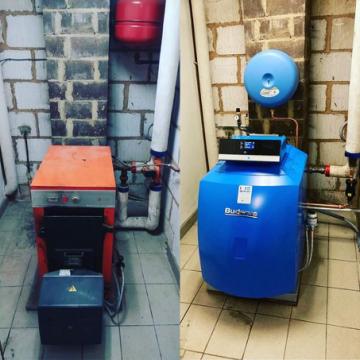 Remplacement d'une chaudière au mazout par une Buderus condensation à Tournai
